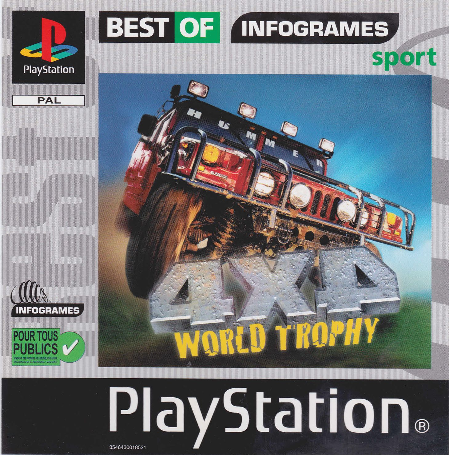 4x4 World Trophy playstation front cover