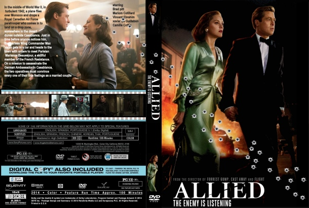 ALLIED (2016) cover