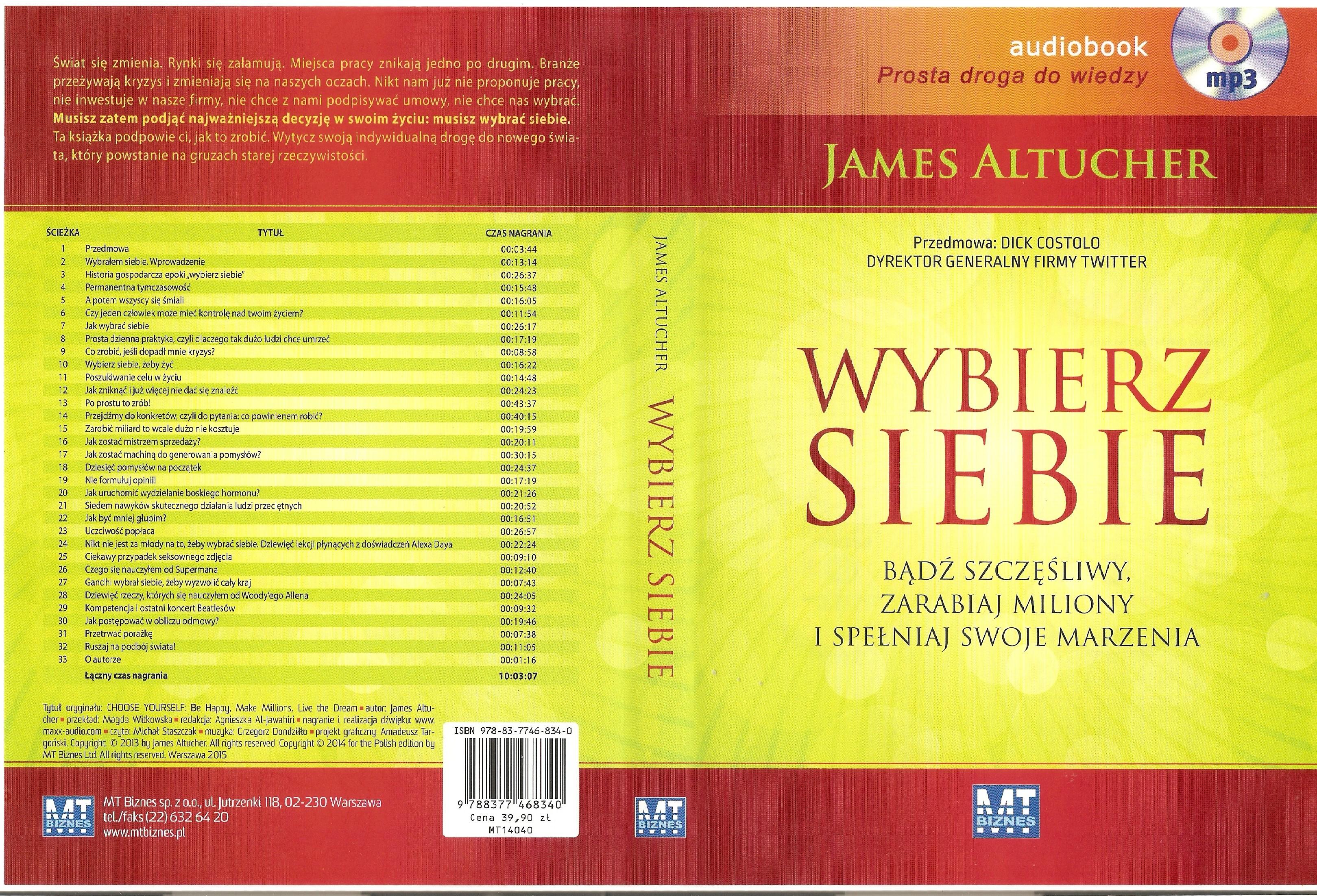 Wybierz Siebie - James Altucher