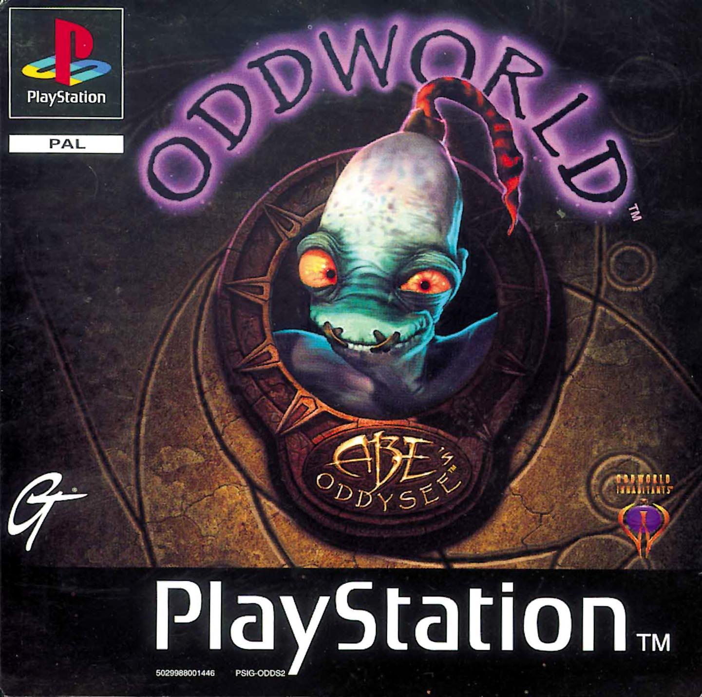 Oddworld - Abe's Oddysee (okładka)