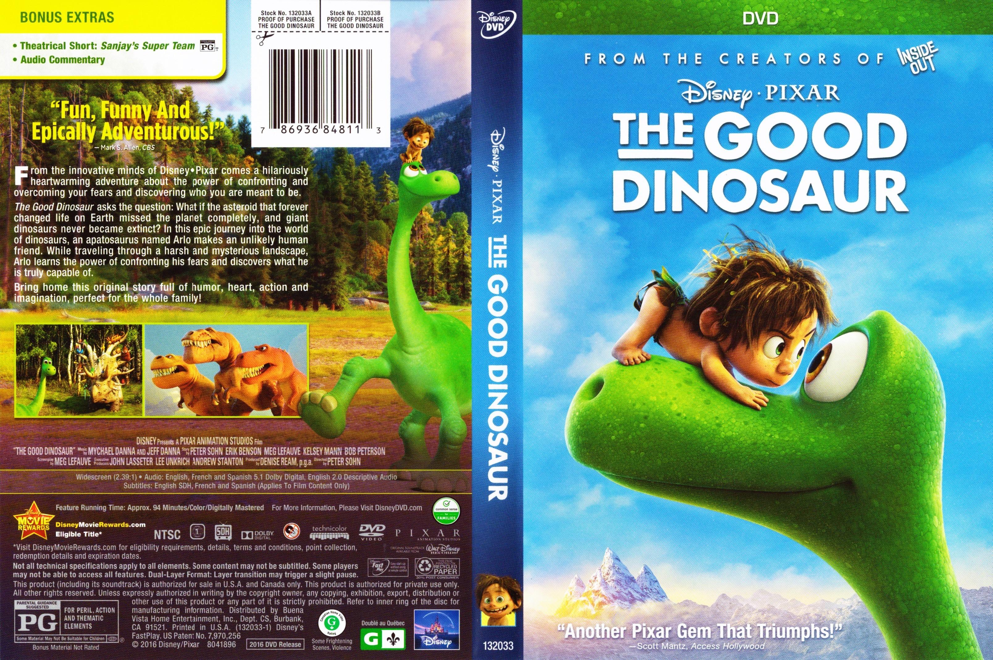 The Good Dinosaur (2015) okładka