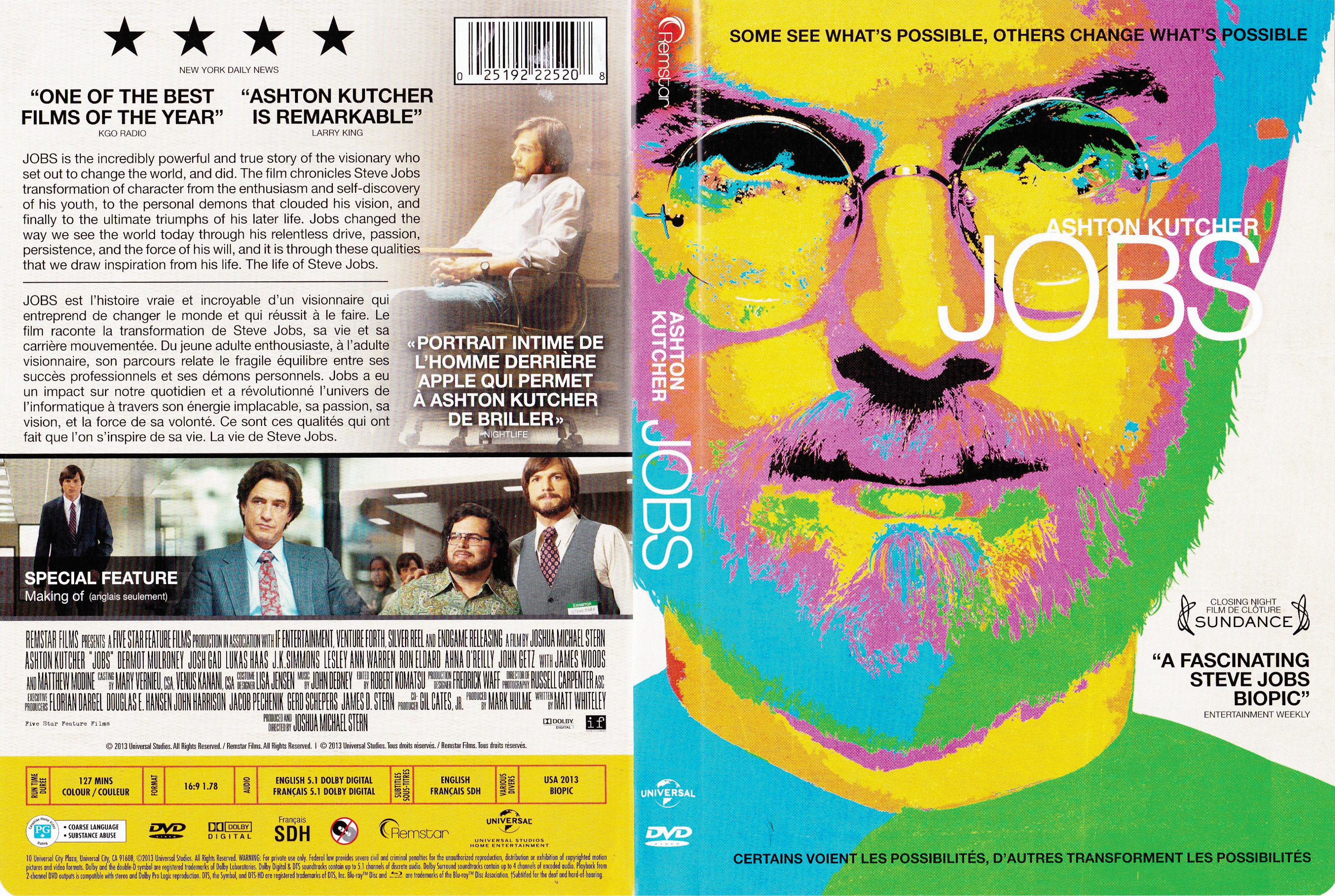 Jobs (2013) cover