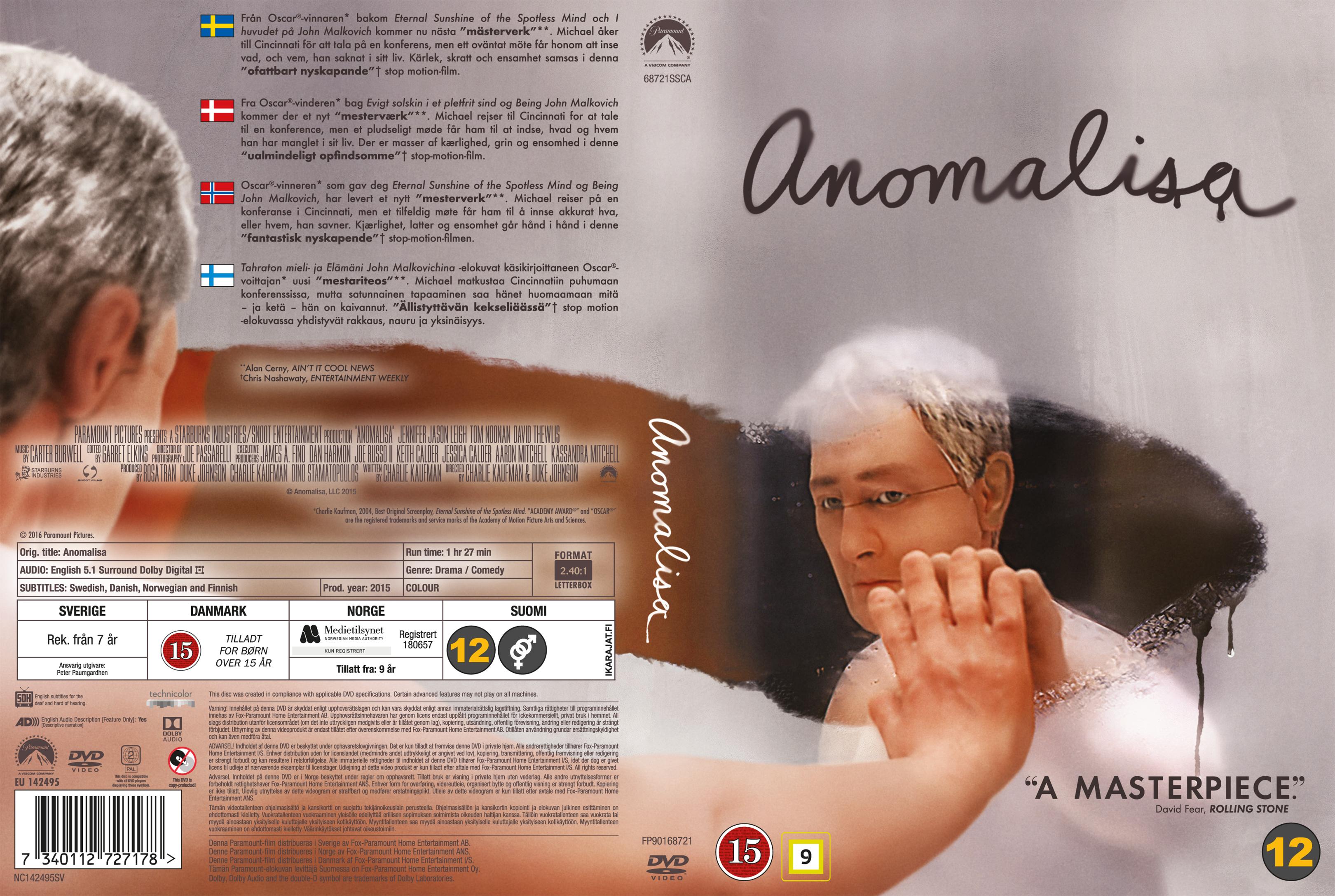 Anomalisa (2015) okładka