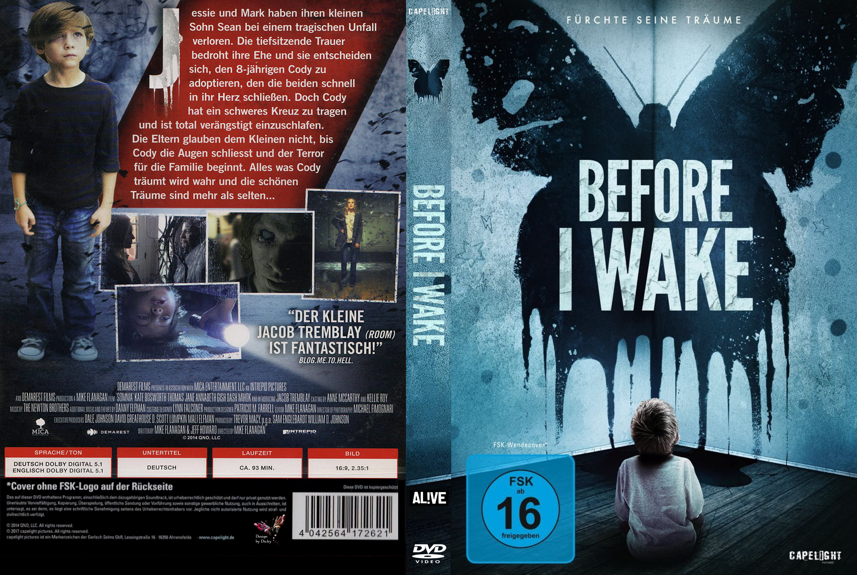 Before I Wake (2015) okładka
