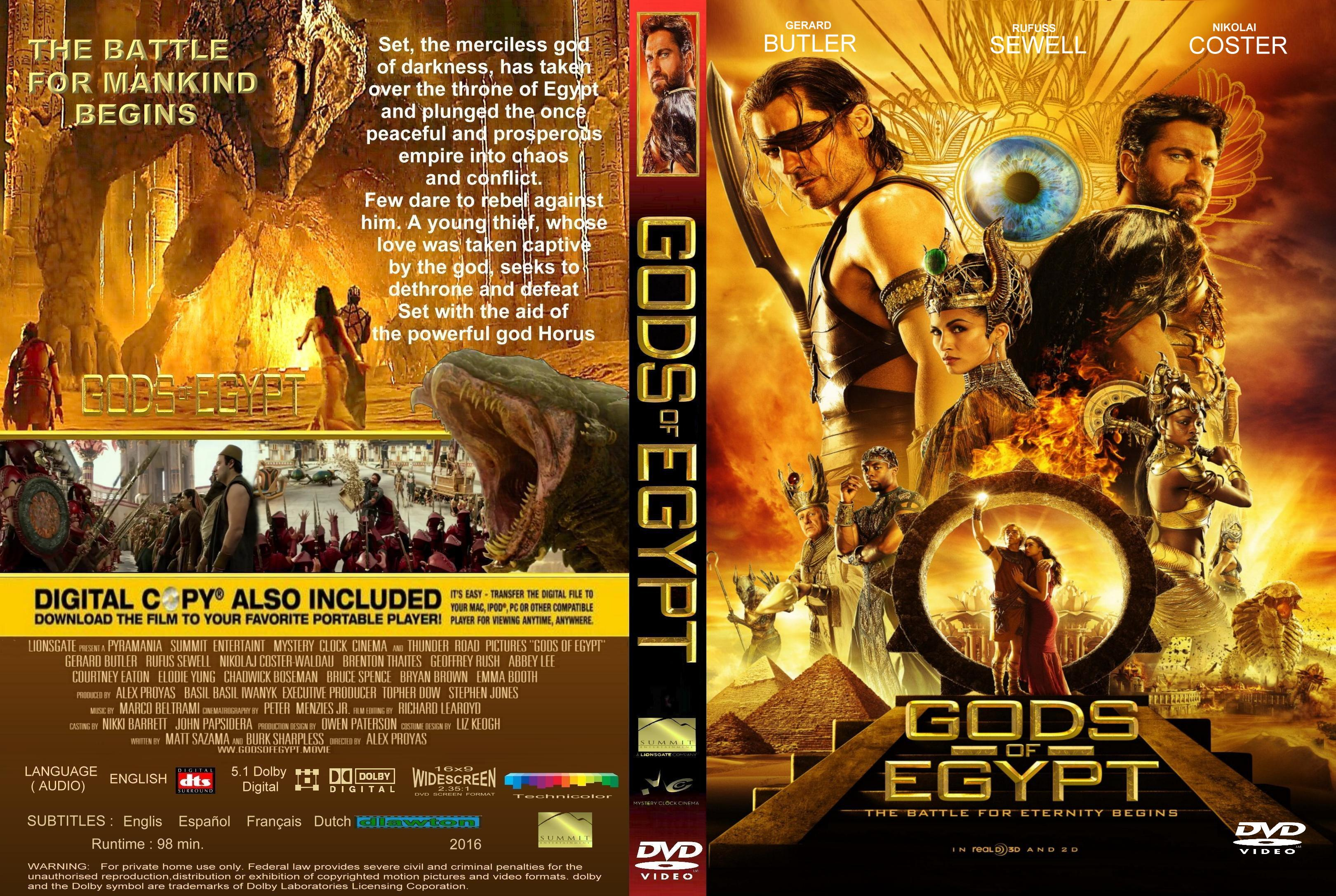 Gods of Egypt (2016) okładka