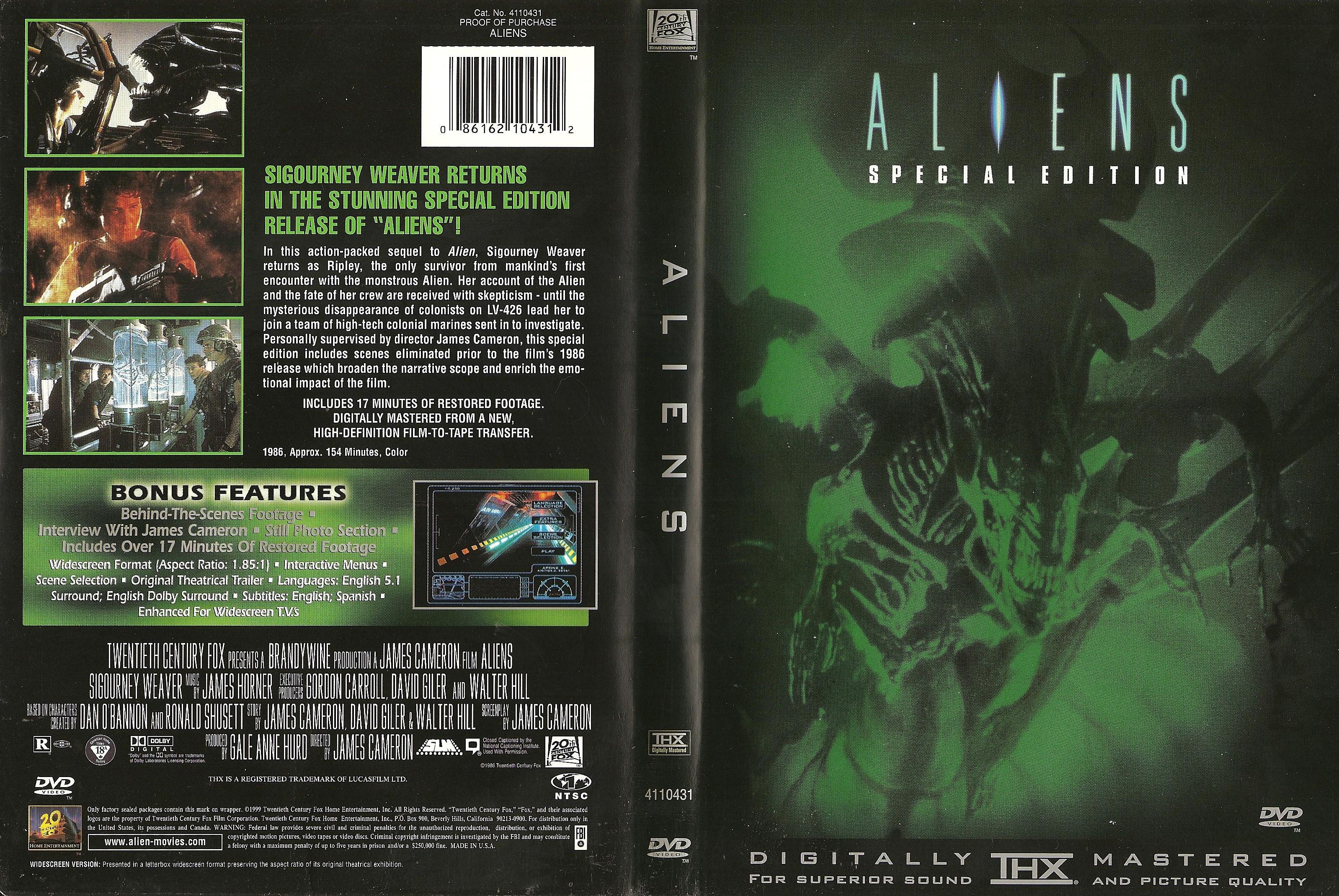 Aliens (1986) okładka