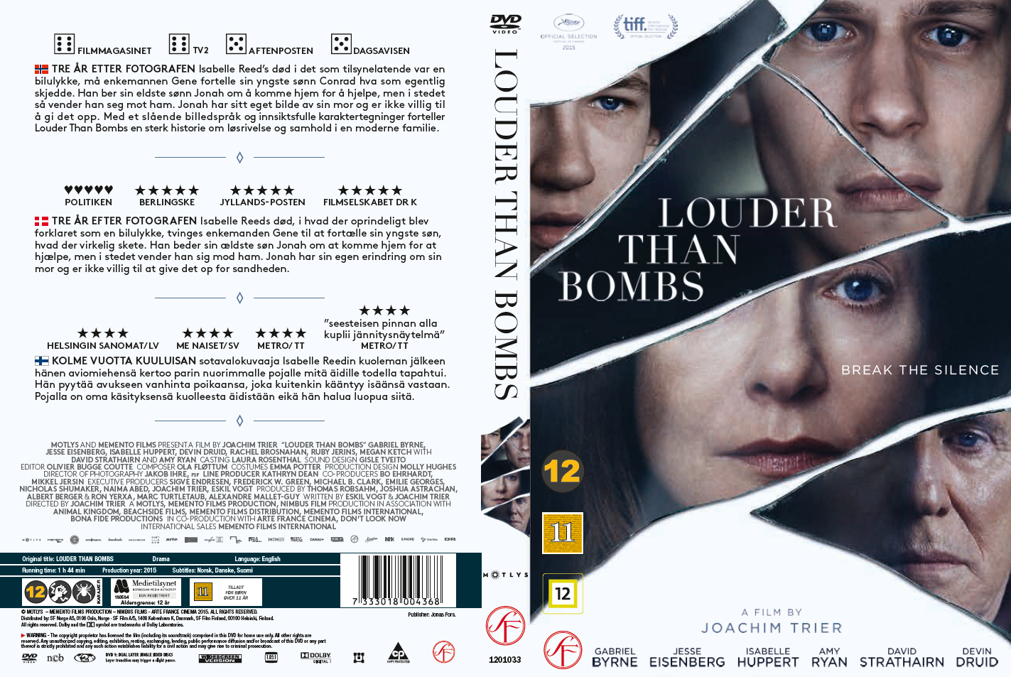 Louder Than Bombs (2015) okładka