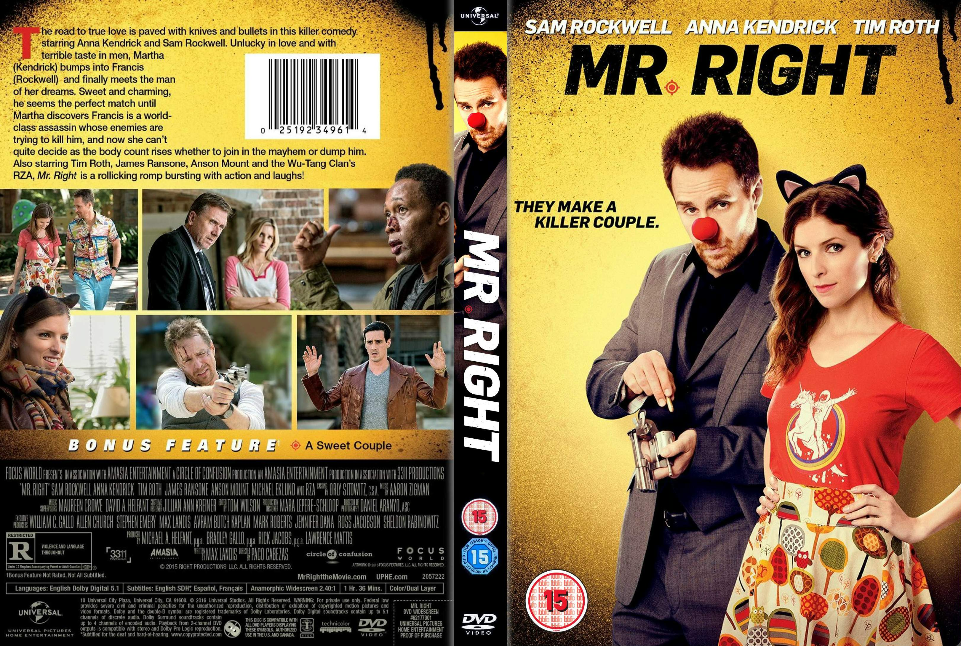 Mr. Right (2015) okładka