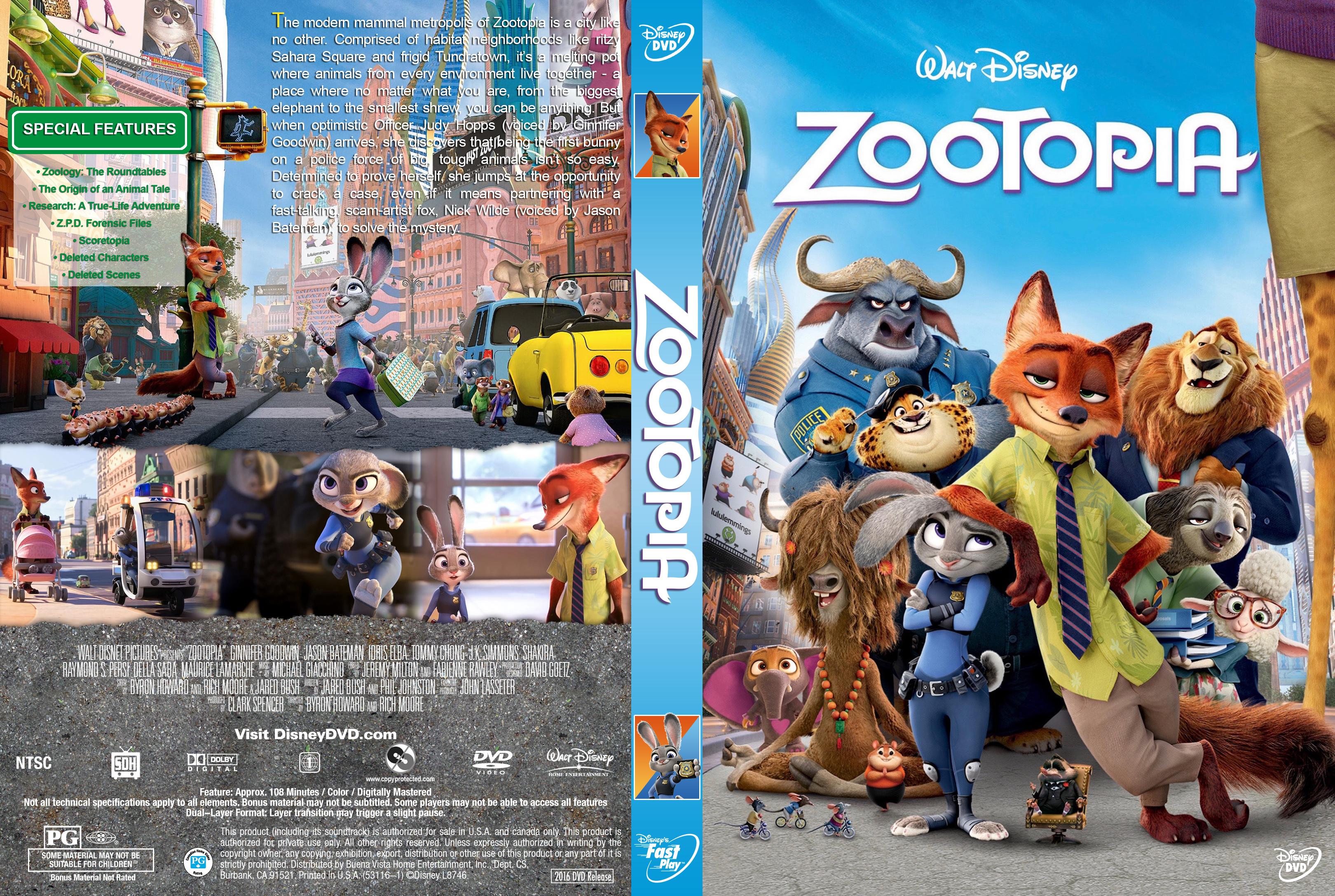 Zootopia (2016) okładka