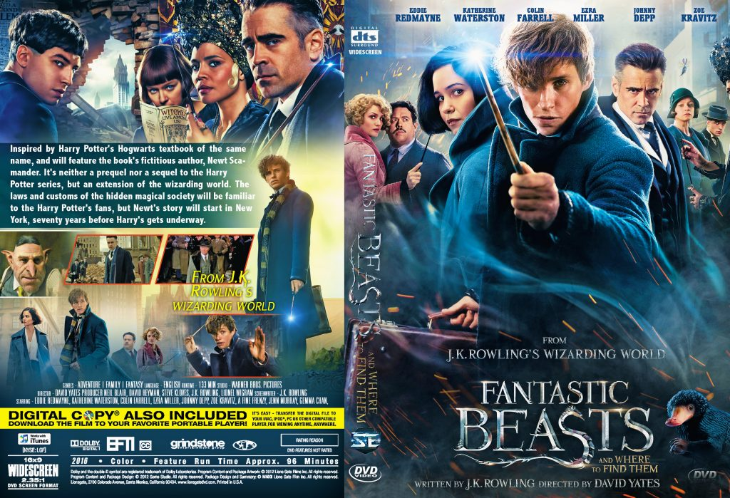 Fantastic Beasts and Where to Find Them (2016) okładka